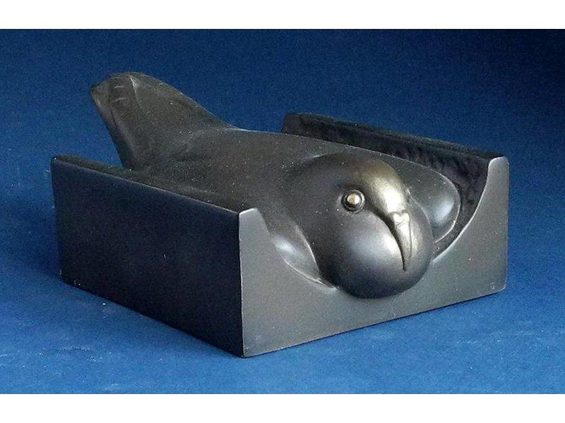 Pompon Pigeon au nid coupe - Duif