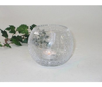 Baroque House of Classics Large round cup or candle holder - glass