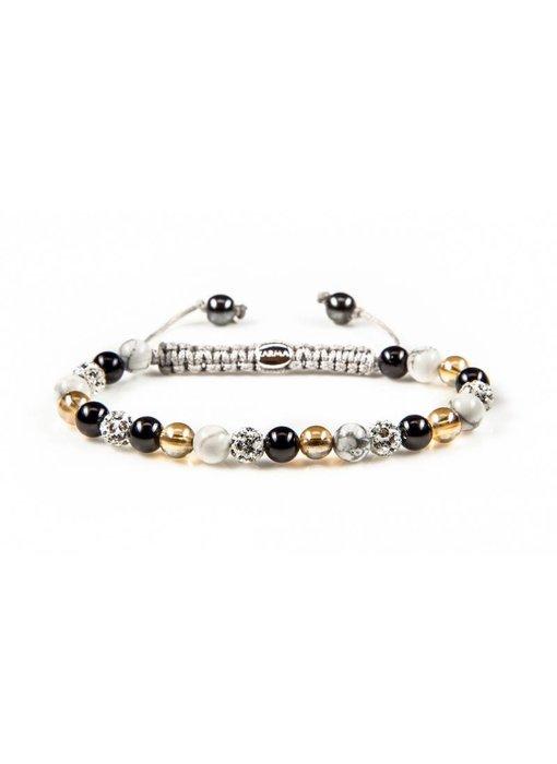 Karma Bracelet Black meets Gold XS