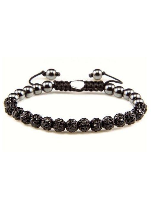 Karma Armband Black Crystal XS