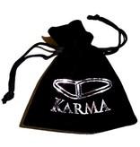 Karma Armband Grey Crystal XS