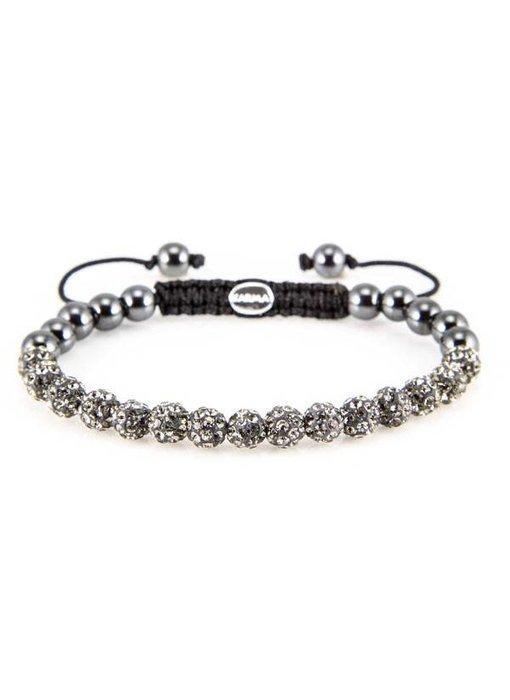 Karma Bracelet Grey Crystal XS