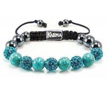 Karma Damesarmband natuursteen Classic Heavenly Light