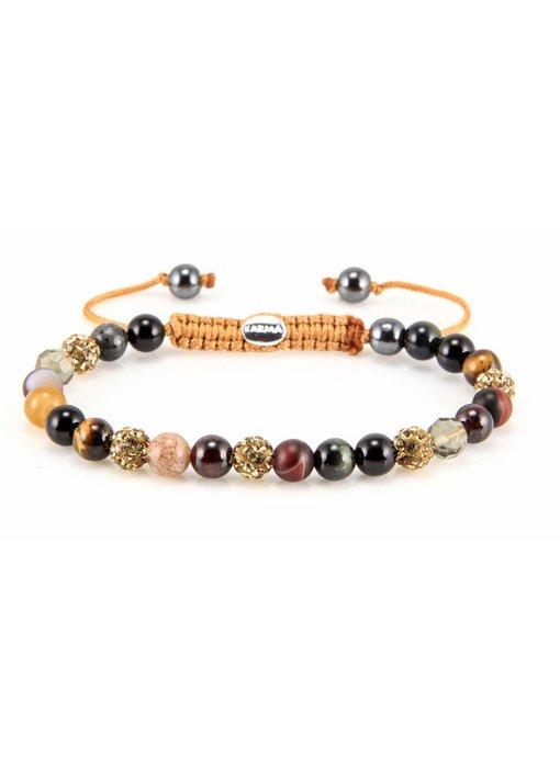 Karma Armband San Pedro XS - geelgouden kristallen