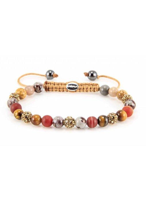 Karma Armband Treasure XS - Gelb-Gold Kristallen