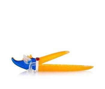 Borowski Pelikan Schale in Gelb - Blau