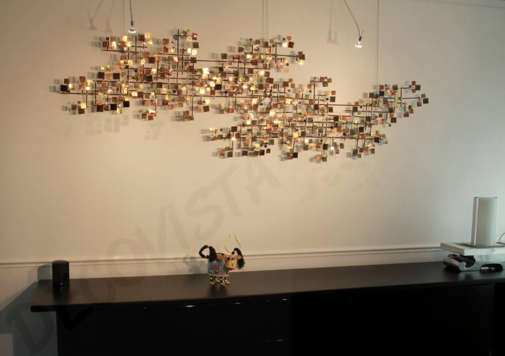 Superb C. Jeré Firmament   Set 2 Stück   Wanddekoration Metall Skulptur Artisan  House ...