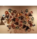 C. Jeré Wandsculptuur Kaleidoscope - metaalkunst