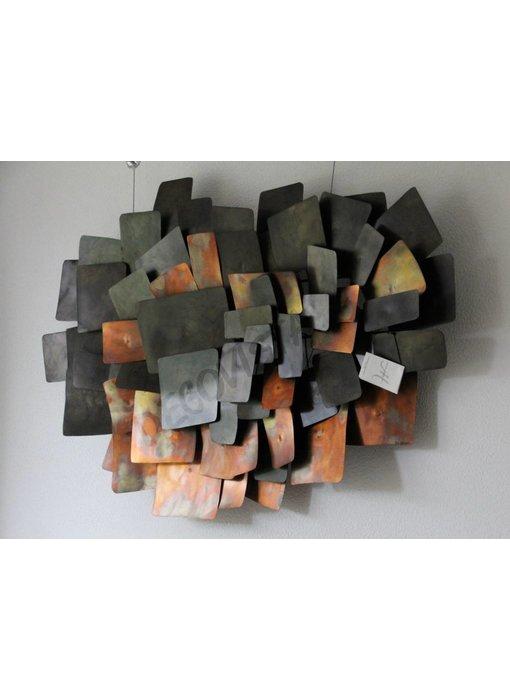 C. Jeré Integrate, metalen wandscultpuur, wanddecoratie