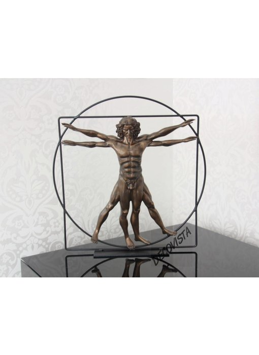 Mouseion The Vitruvian Man, bronze - L