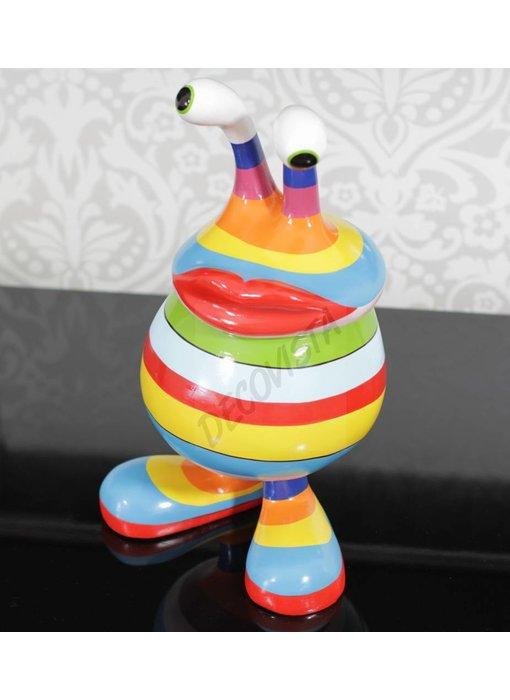 Niloc Pagen Schaal met deksel, modern design Rainbow, M