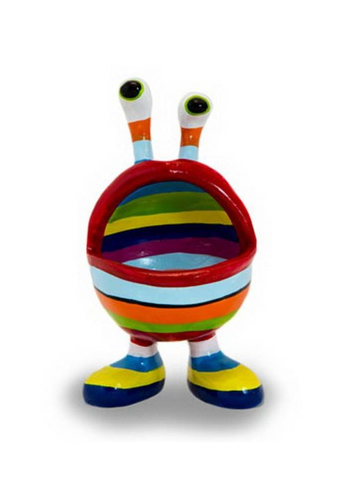 Niloc Pagen Grappig presenteerschaaltje Lip Mouth, Rainbow,  M