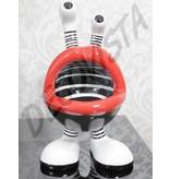 Niloc Pagen Lip Mouth, Lippenmond zw-wit, maat M