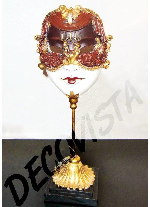 Baroque House of Classics Carnavalsmasker op standaard - barok