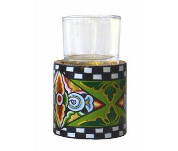 Toms Drag Theelicht houder met glas - MS (LAATSTE)