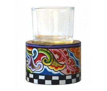 Toms Drag Candleholder T-light with glass - MM (LAST)