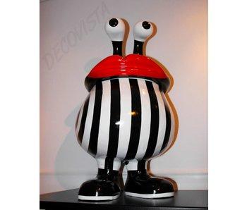Niloc Pagen Lip basket  XL design opbergbox, B&W