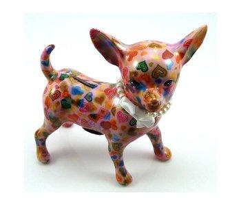 Pomme-Pidou Nanou, money bank, Chihuahua dog