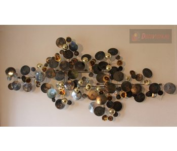 C. Jeré Wall art sculpture Raindrops - brass -