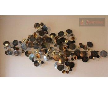 C. Jeré Wandsculptuur Raindrops brass