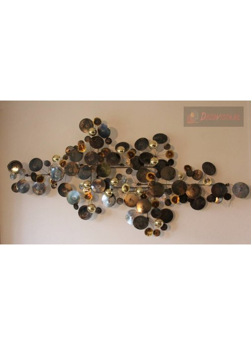 C. Jeré Wall art sculpture Raindrops - brass -