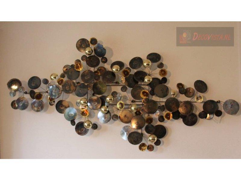 C. Jeré metalen wanddecoratie Raindrops Brass, C. Jeré Artisan House
