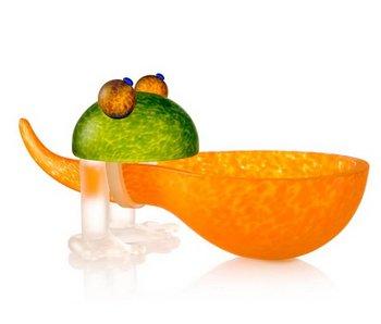 Borowski Frosch Schale Orange