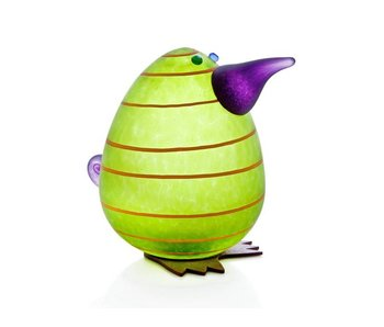 Borowski Kiwi Egg Paperweight, Lime green