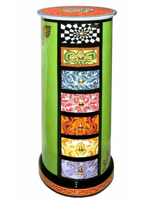 Toms Drag Ladenkast, cylindrische kast, ronde ladenkast