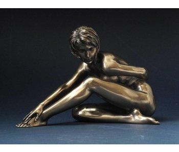 BodyTalk Weiblicher Akt Skulptur, Hand auf Fuß