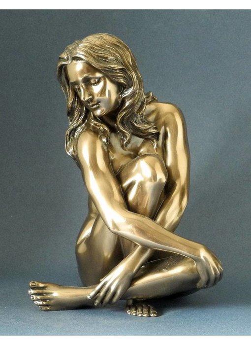 BodyTalk Nackte Frau - Skulptur in Bronze - L