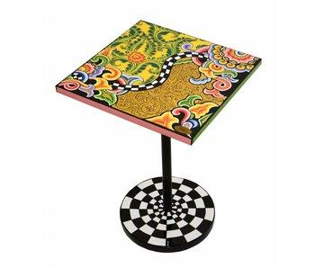 Toms Drag Bijzettafel vierkant, design floral-goud - Modern Line