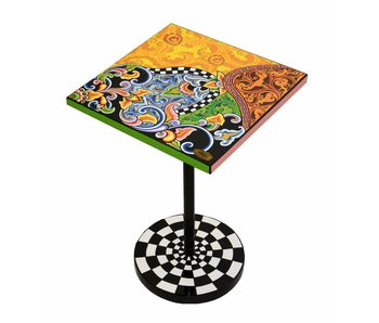 Toms Drag Side Table square, Floral colorful - Modern Line