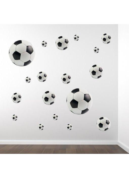 Walltastic Muursticker Voetballen (set van 18)