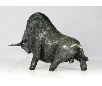 Bison sculpture, bronze