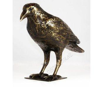 Krähe, bronzener Vogel