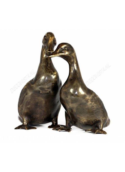 Eendenpaar in brons
