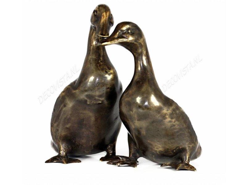 Enten Paar aus Bronze