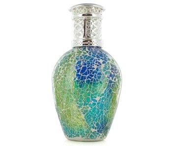 Ashleigh & Burwood Mosaic Meadow Duftlamp, blau-grün - L