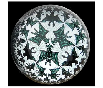Mouseion Escher paperweight Angels and Devils - Circle Limit IV (1960)