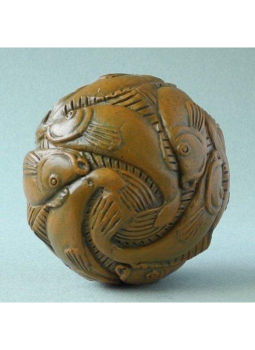 Mouseion Escher kunst mini bol Vissen (1938) in geschenkdoos