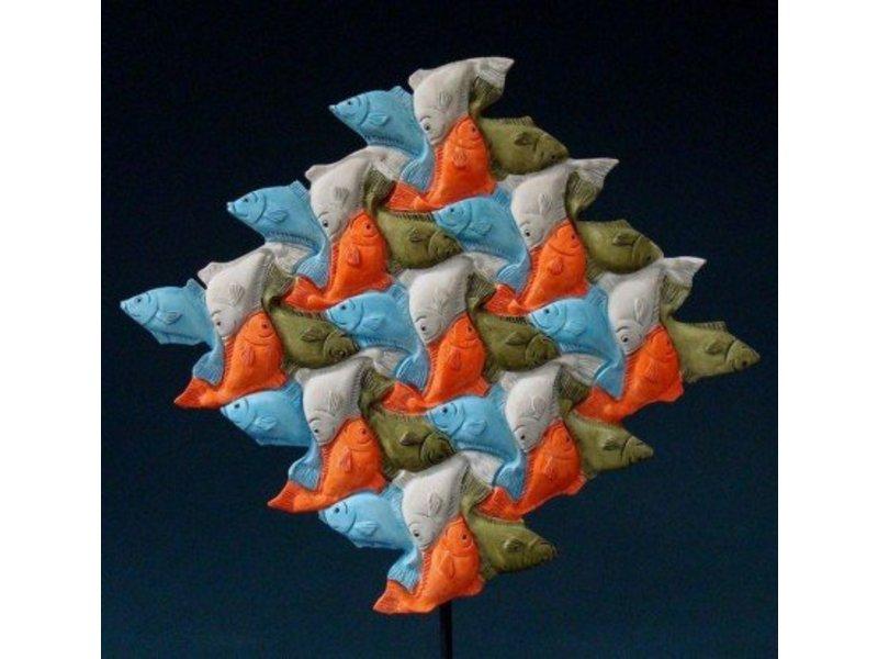 escher vissen driehoek kunstcadeau decovista
