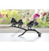 Trio Bronze Vögel auf Ast