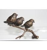 Tak met drie vogels, brons
