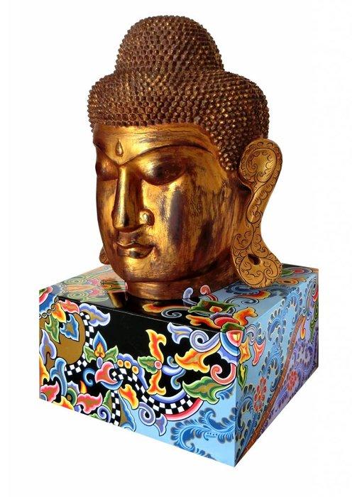 Toms Drag Buddha Skulptur auf Sockel - XL Ltd. Edition