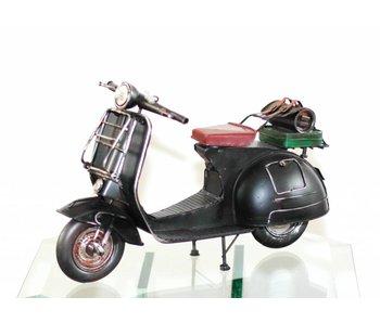 Clayre & Eef Scooter antiek, bruin-zwart metaal