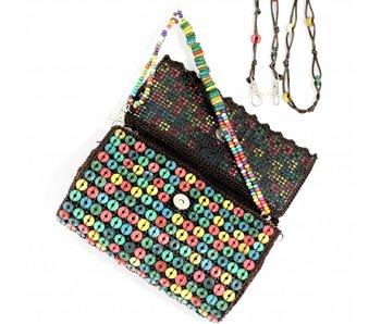 Tasche mit Pailletten, Holz