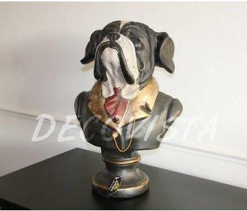 Baroque House of Classics Busto de perro estatua del boxeador