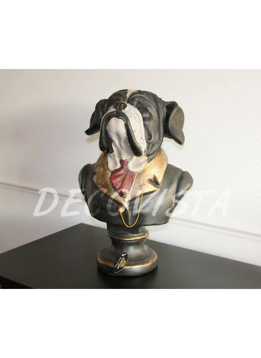 Baroque House of Classics Dog bust Bully dog statue