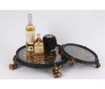 Baroque House of Classics Classic platter with glass